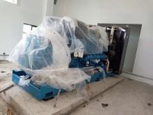 福湘公司2套600KW机组送货到客户现场,进场完毕准备接线施工。