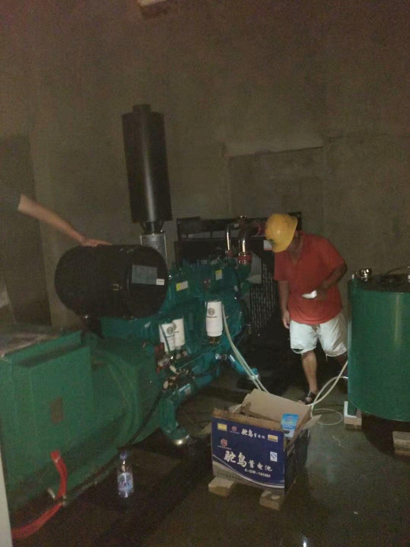 福湘200KW潍柴动力机组配套格拉姆无刷全铜电机,进场完毕,等待安装施工