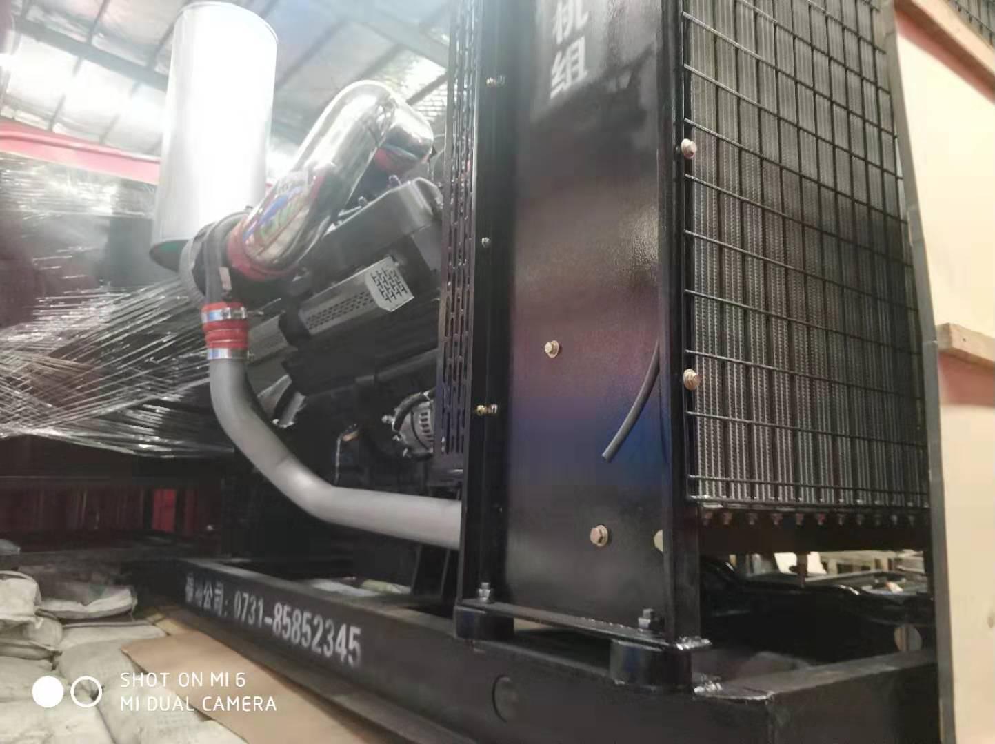 福湘发电设备公司:500KW上海凯普动力配套广州道依茨发电机出发送货客户现场