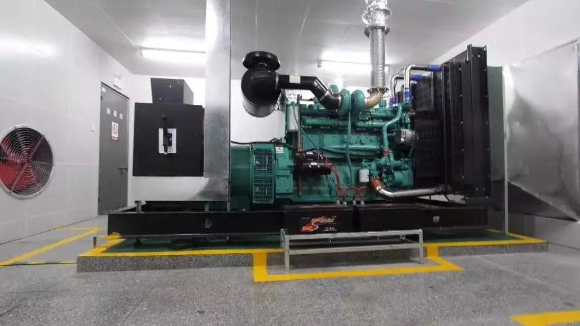 福湘公司400KW康明斯动力配套广州道依茨发电机安装现场