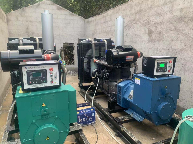 福湘发电设备公司2套300KW上海凯普动力机组交付养殖场用户