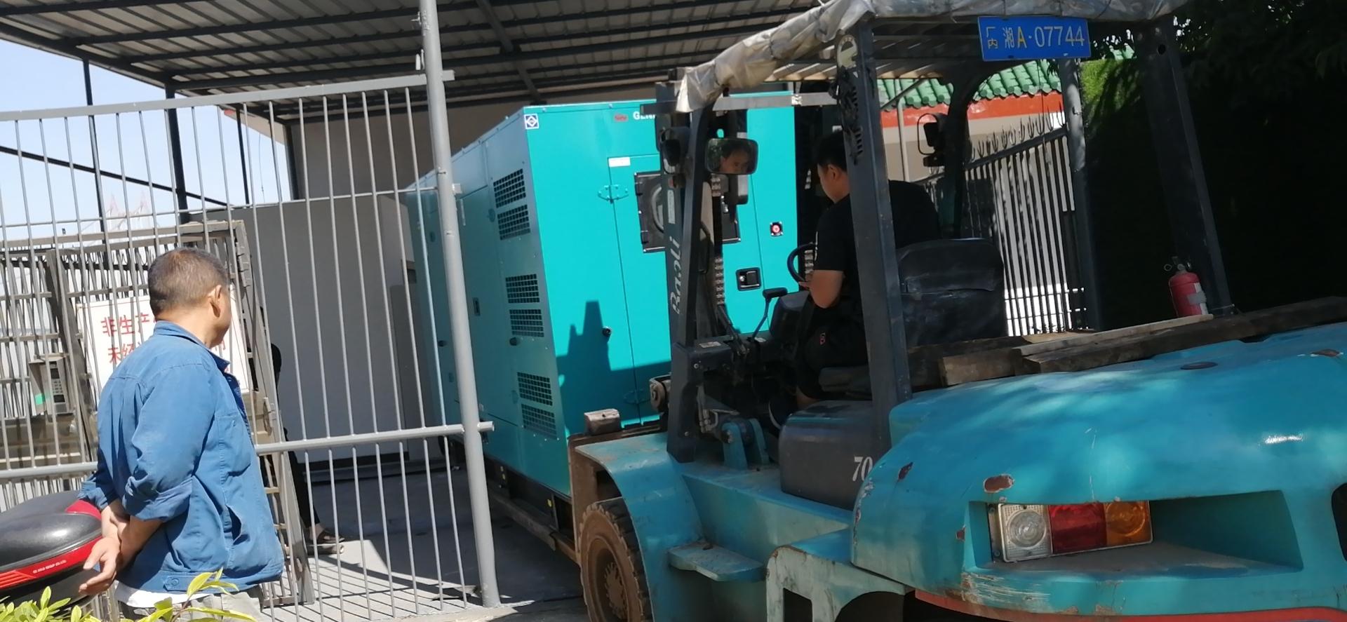 航天福湘-智能型静音发电机组交付长沙沿江风管带景区